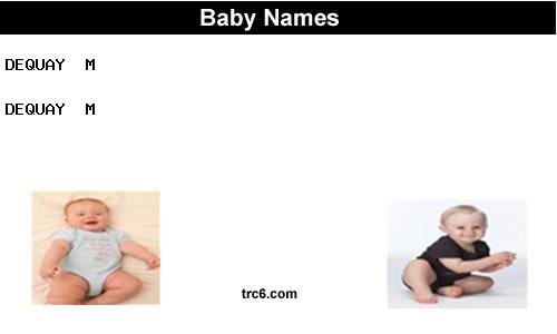 dequay baby names